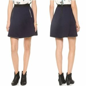 MADEWELL Navy Blue Luna Quilted Skater Skirt 2